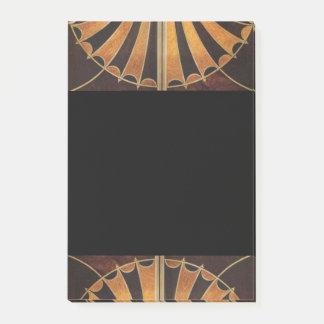 arte Nouveau, art déco, vintage, colores de madera Notas Post-it®