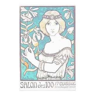 Arte Nouveau del vintage del centavo del DES del Papeleria De Diseño