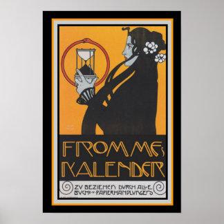 """Arte Nouveau """"Frommes Kalender"""" 13 x 19"""