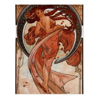 Arte Nouveau la postal de la danza
