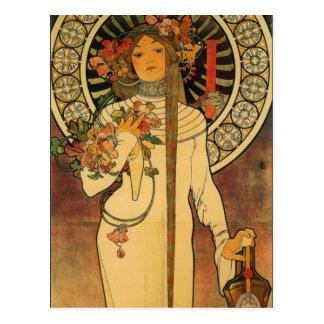 Arte Nouveau la postal de Trappistine