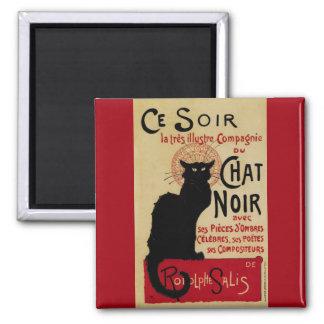 Arte Nouveau, Le Chat Noir del vintage Imán Cuadrado