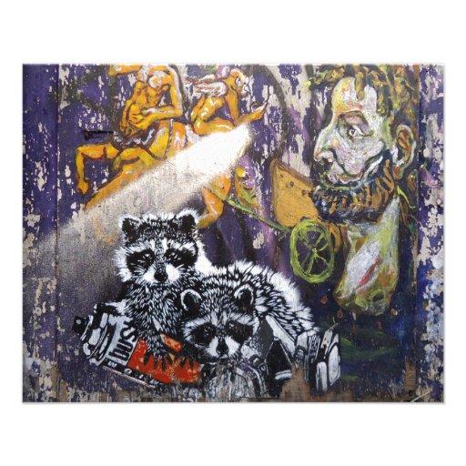 Arte Nr de la calle de la pintada de Amsterdam. 1 Flyer Personalizado