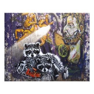 Arte Nr de la calle de la pintada de Amsterdam. 1 Folleto 11,4 X 14,2 Cm