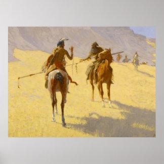 "Arte occidental de Federico Remington ""la"
