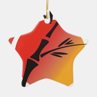 Arte oriental adorno navideño de cerámica en forma de estrella