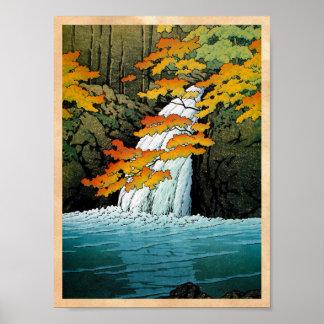Arte oriental fresco de la cascada de Kawase Senju