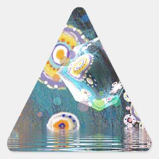 Arte original de Dreamz de la esfera en lona Pegatina Triangular