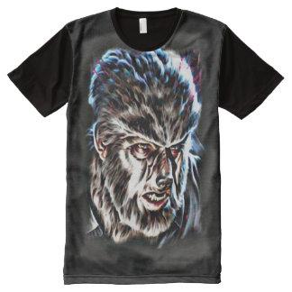 Arte oscuro clásico de la fantasía del horror de camiseta con estampado integral