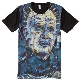 Arte oscuro de la fantasía del horror del demonio camiseta con estampado integral