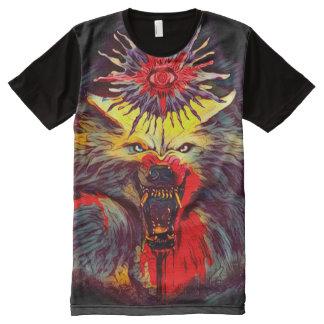 Arte oscuro oculto del horror de Magick del hombre Camiseta Con Estampado Integral