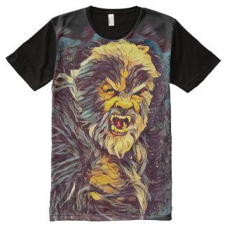 Arte oscuro variable del horror de Wolfman Camiseta Con Estampado Integral