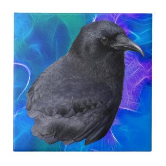 Arte pagano céltico del retrato místico del cuervo azulejos ceramicos