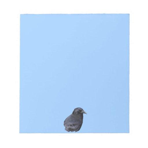 Arte pagano céltico del retrato místico del cuervo blocs de notas
