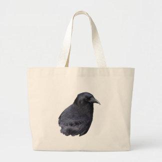 Arte pagano céltico del retrato místico del cuervo bolsa de mano