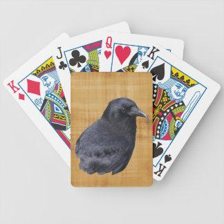 Arte pagano céltico del retrato místico del cuervo baraja de cartas