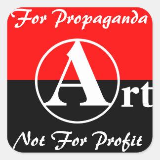 arte para el pegatina de la propaganda