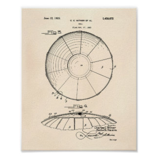 Arte Peper viejo de la patente de la bola 1923 del