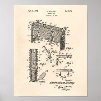 Arte Peper viejo de la patente de la meta 1948 del