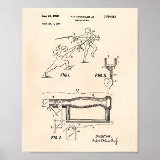 Arte Peper viejo de la patente de las espadas de