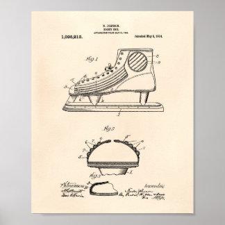Arte Peper viejo de la patente del zapato 1914 del