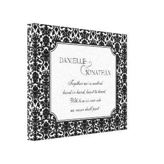 Arte personalizado boda blanco negro de la lona de lona estirada galerias