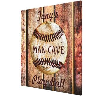 Arte personalizado cueva de la pared del béisbol