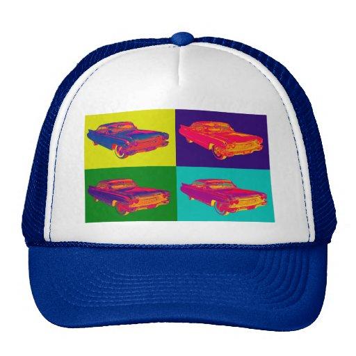 Arte pop 1960 de lujo colorido del coche de gorras