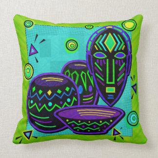 Arte pop africano del artefacto cojin