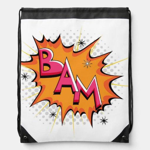 ¡Arte pop Bam cómico! Mochilas