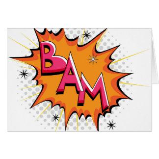 ¡Arte pop Bam cómico! Tarjeta De Felicitación