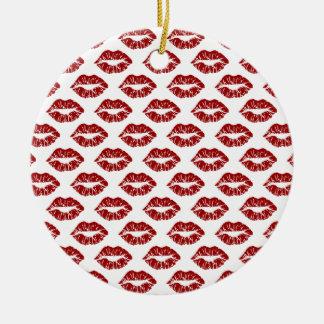 Arte pop: Besos rojos del lápiz labial Ornatos