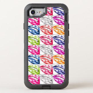 Arte pop caliente de los labios funda OtterBox defender para iPhone 7