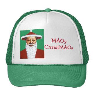 Arte pop chino de las Felices Navidad de Mao Papá Gorros Bordados