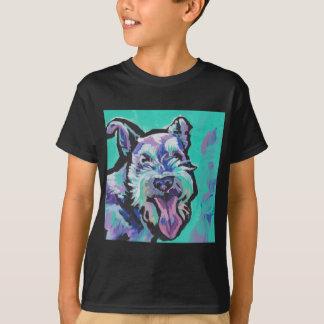 Arte pop colorido brillante del schnauzer de la camiseta
