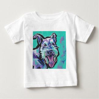Arte pop colorido brillante del schnauzer de la camiseta de bebé