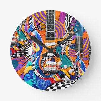 Arte pop colorido del reloj del músico del