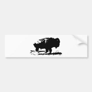 Arte pop corriente del bisonte del búfalo pegatina para coche