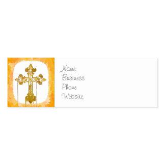 Arte pop cristiano de las cruces coloridas tarjeta de visita