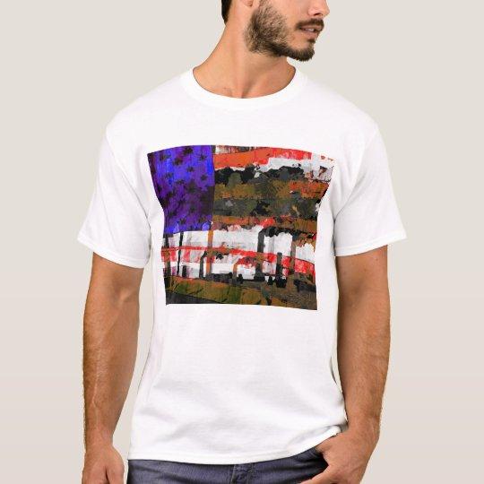 Arte pop de la contaminación de la bandera camiseta