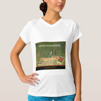 "Arte pop de la ""huelga afortunada"" camiseta"