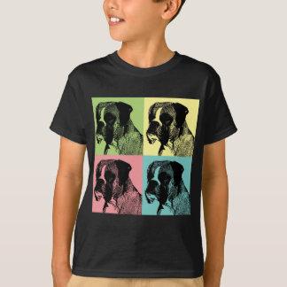 Arte pop de la matriz del perro del boxeador camiseta