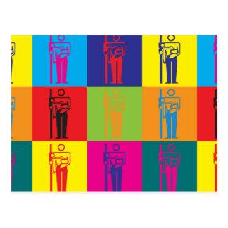 Arte pop de la radiología tarjeta postal