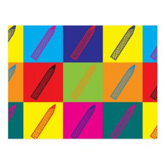 Arte pop de las manicuras postal