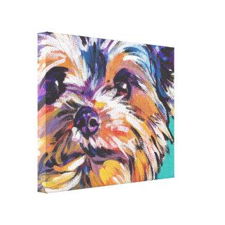 arte pop de Yorkshire Terrier del yorkie en lona