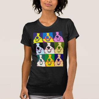 Arte pop del border collie camiseta