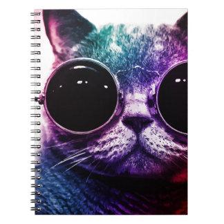 Arte pop del gato del inconformista cuaderno