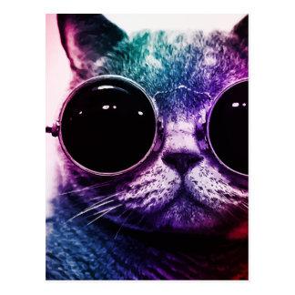 Arte pop del gato del inconformista postal