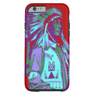 Arte pop del jefe indio funda resistente iPhone 6