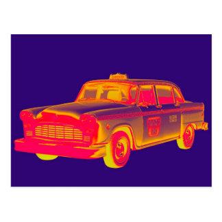 Arte pop del taxi del taxi del inspector postales